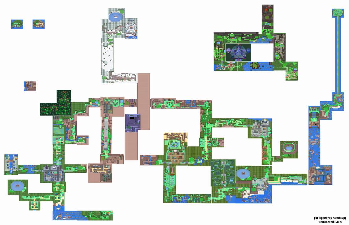 Full Map of Sinnoh by harmanupp on DeviantArt