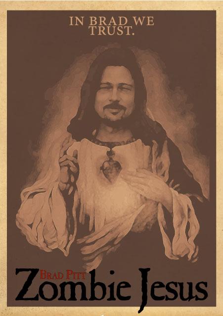 Brad Pitt: Zombie Jesus by mstoner82