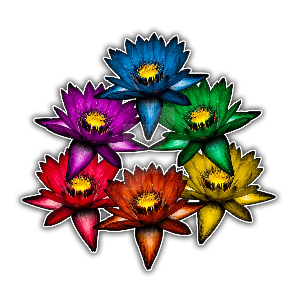Pride Lilies Triangle