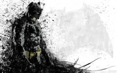 Batfleck Splatter Art by IAmATroyMClure