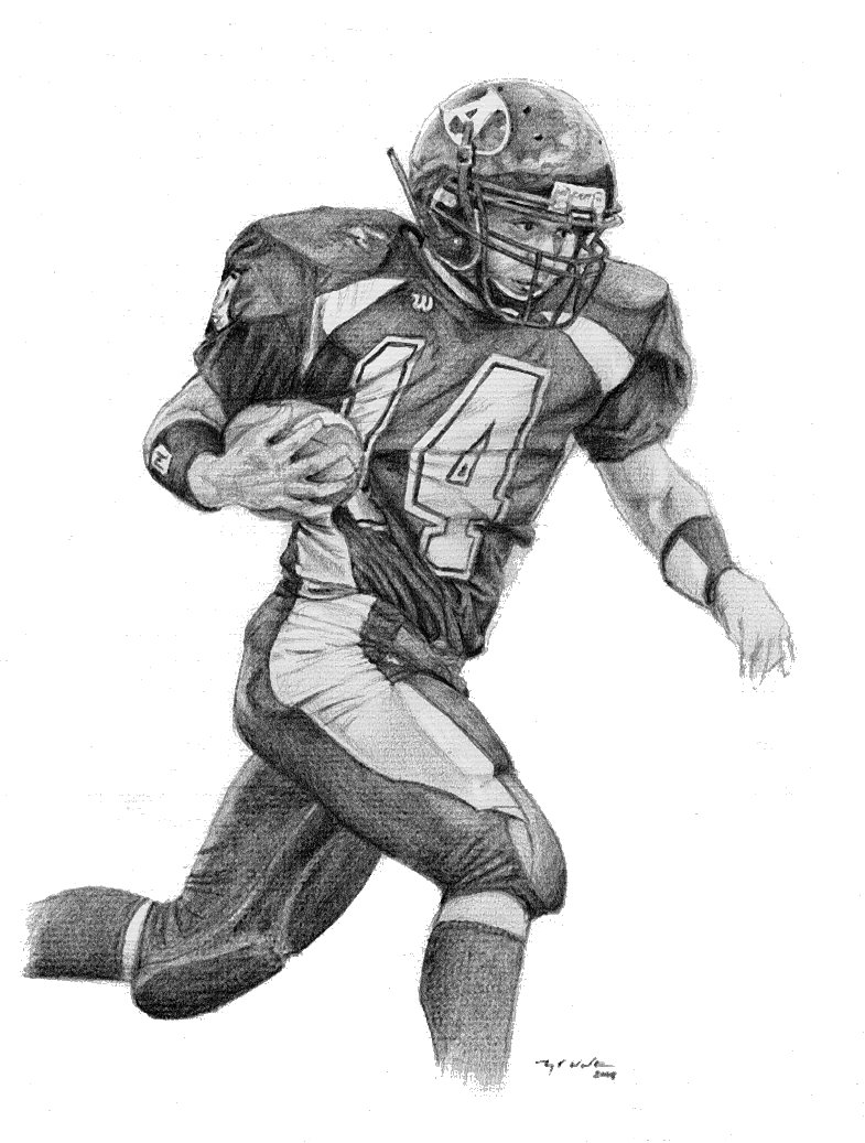 How To Draw Football Players In The Nfl