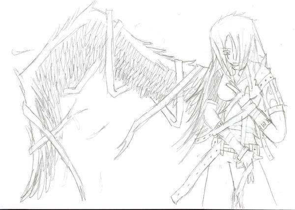 A winged Angel by Demon-Shinob1
