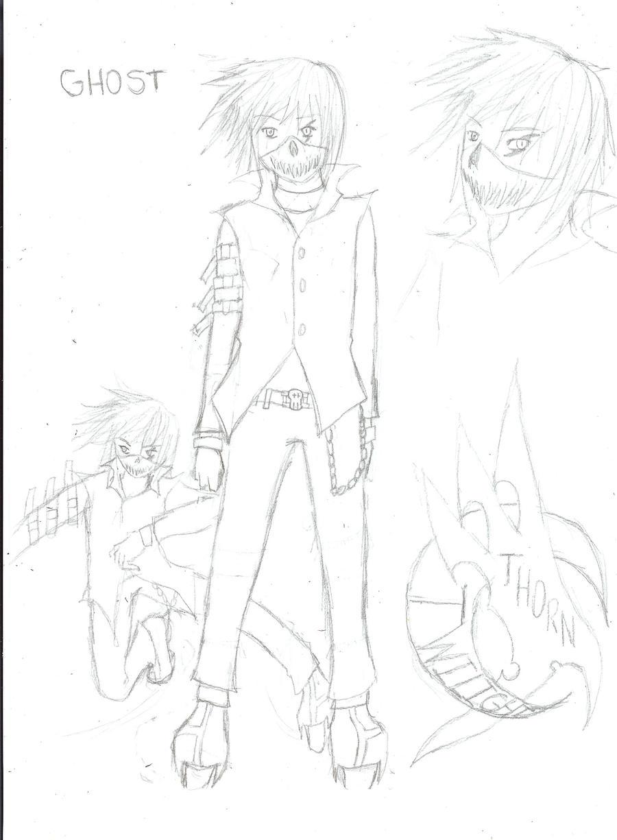 Air Gear OC: Ghost by Demon-Shinob1