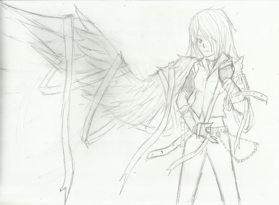 A Winged Angel (Re-make) by Demon-Shinob1