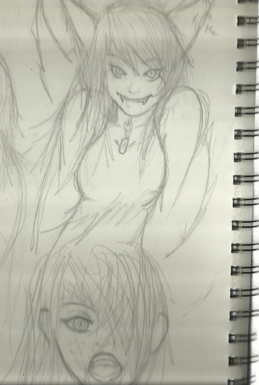 Random Drawings Three by Demon-Shinob1