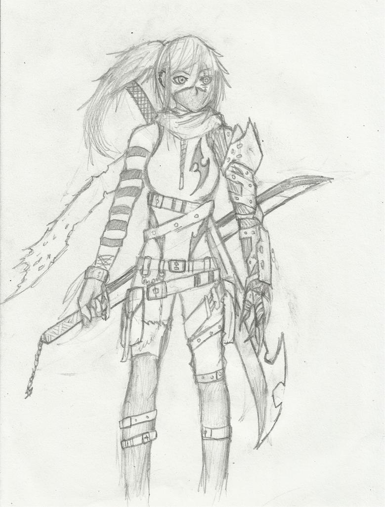 Cyborg Ninja Girl by Demon-Shinob1