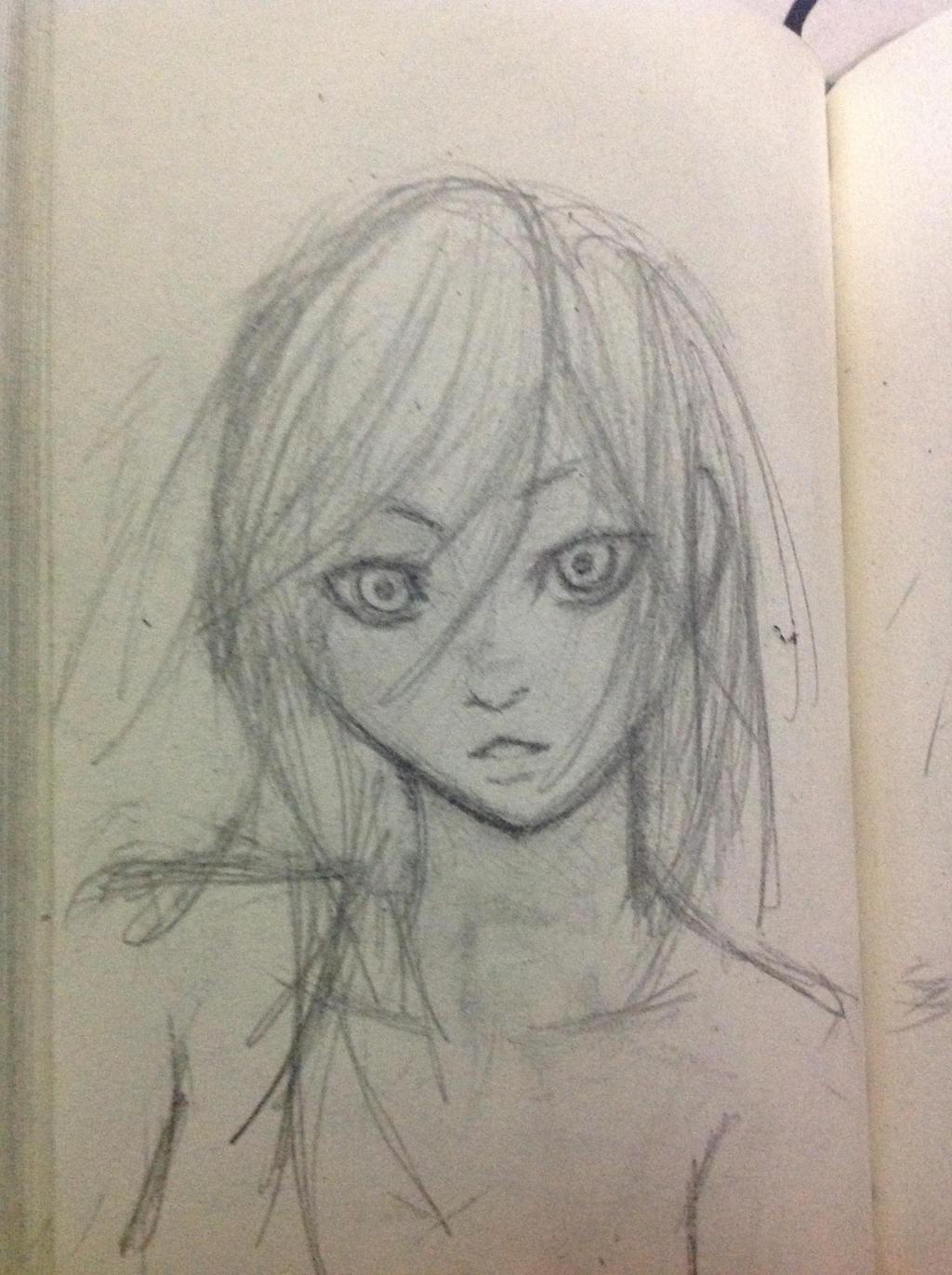 Girl sketch by Demon-Shinob1