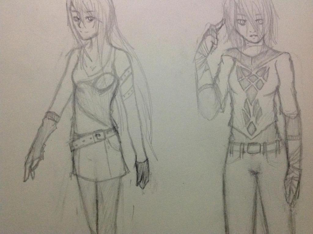 Random clothing sketching by Demon-Shinob1