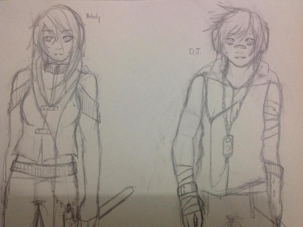 Character idea: Melody and DJ by Demon-Shinob1