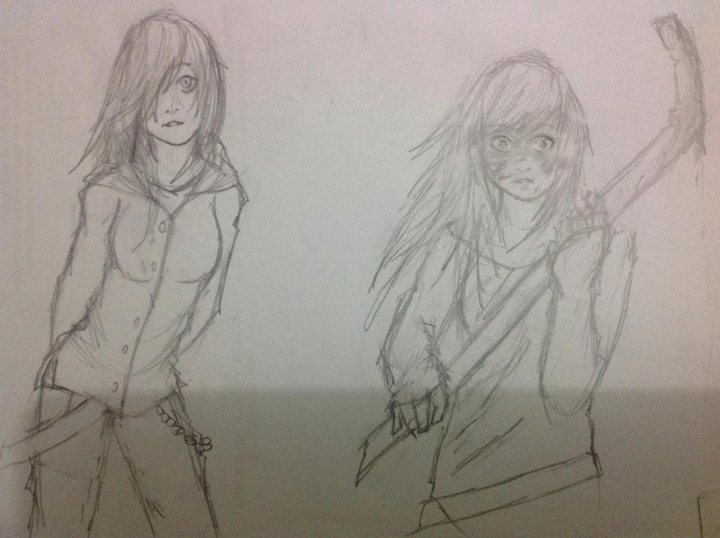 Random exam drawings by Demon-Shinob1