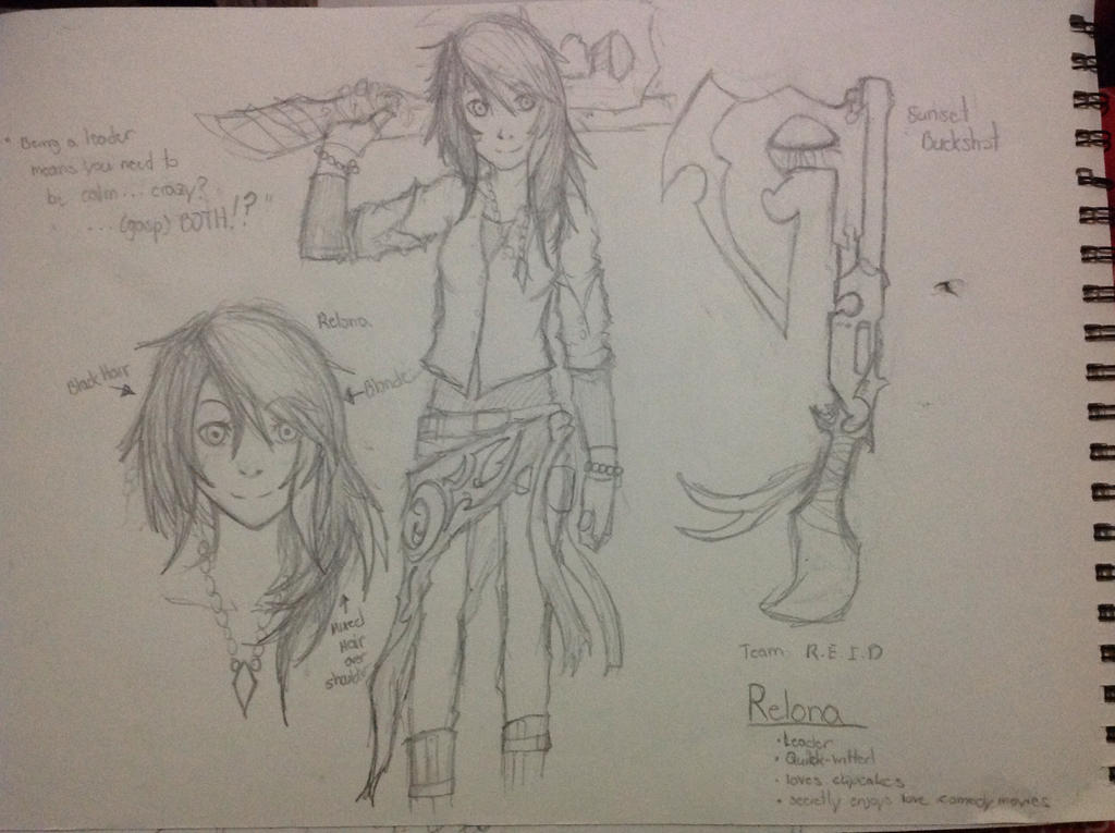 RWBY OC: Relona by Demon-Shinob1