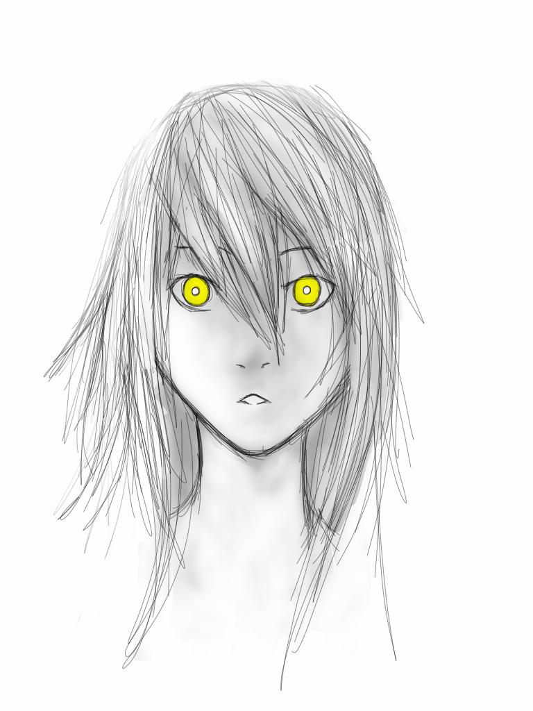 Practice: Yellow Eyes by Demon-Shinob1