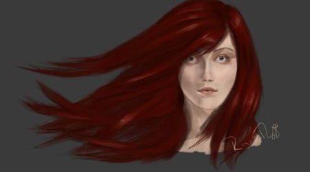 Red Hair Portrait Speedpaint