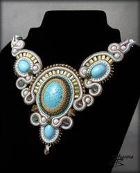 soutache necklace by Elnira