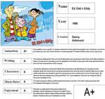 Ed Edd n Eddy Report Card