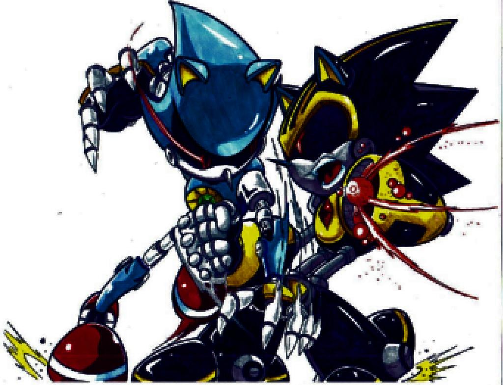 Metal Sonic Vs Metal Sonic 3 0 By Thealexdrawer101 On Deviantart