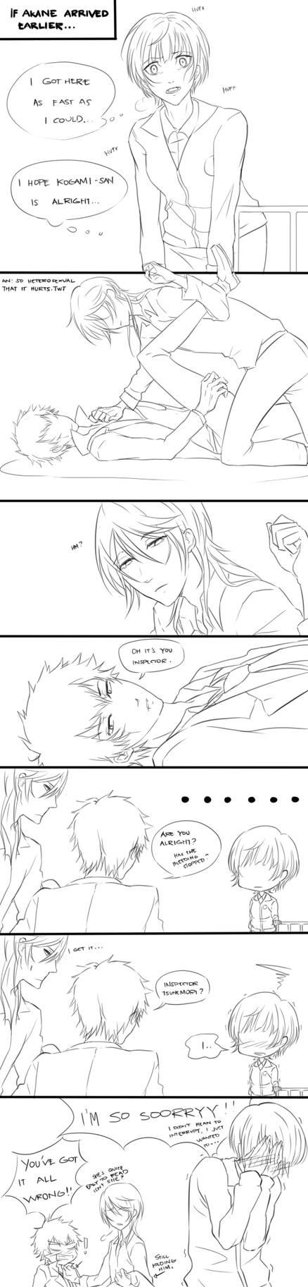 If Akane arrived earlier...