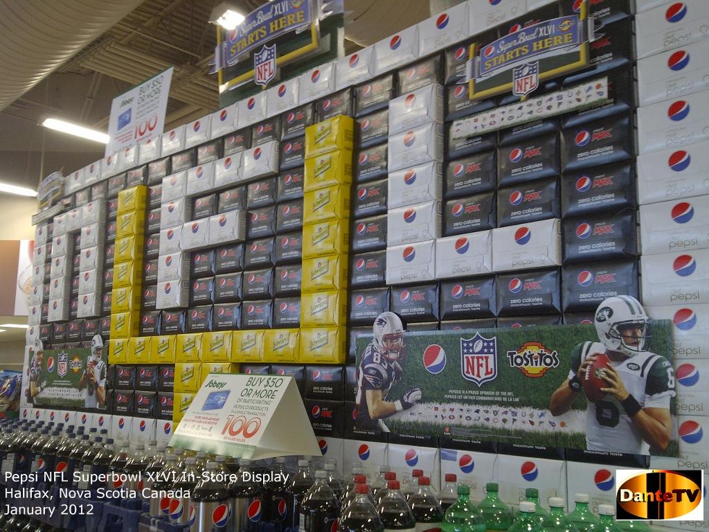 Pepsi NFL Superbowl XLVI InStore Display by dantetv on DeviantArt