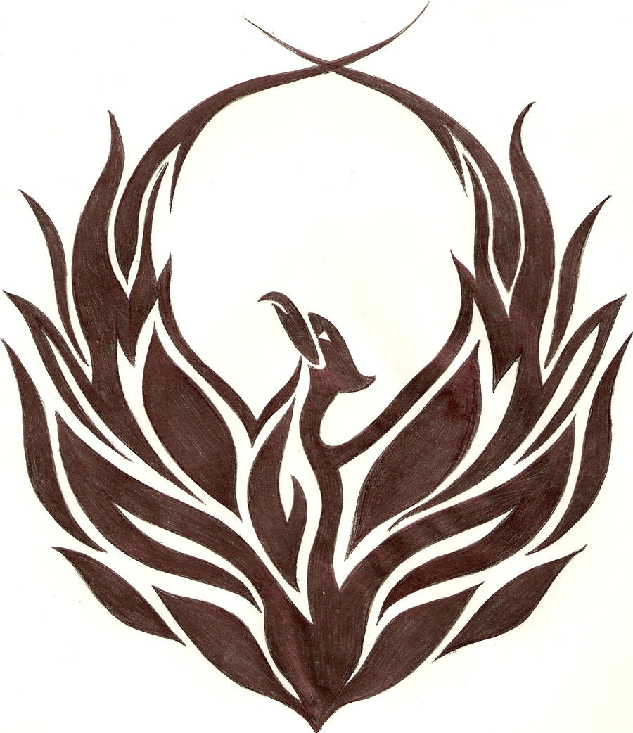 tattoos budeq tribal phoenix by ripasquale. Black Bedroom Furniture Sets. Home Design Ideas