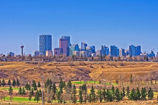 Calgary Skyline Vista Heights Hill