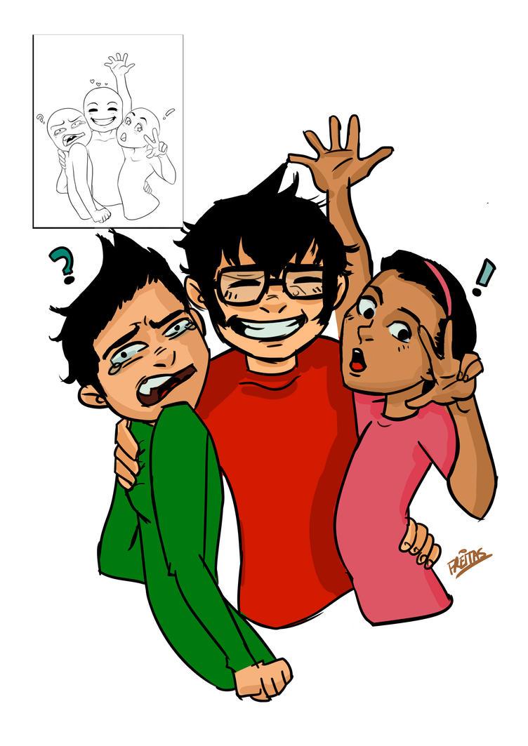 Damian, Jon and Maya by ThaahFreitas