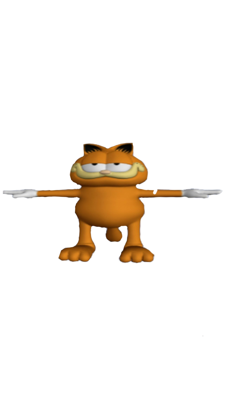 Transparent Png Of T Posing Garfield By Meatmantires On Deviantart