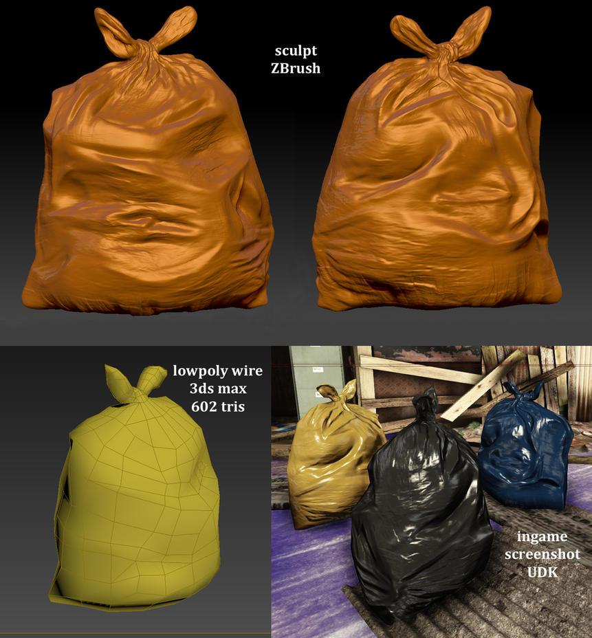 trash bag quicky by Yakul