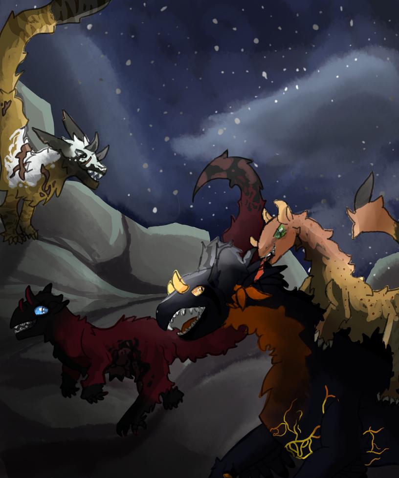 Fight under a stary night by hollowichigo890