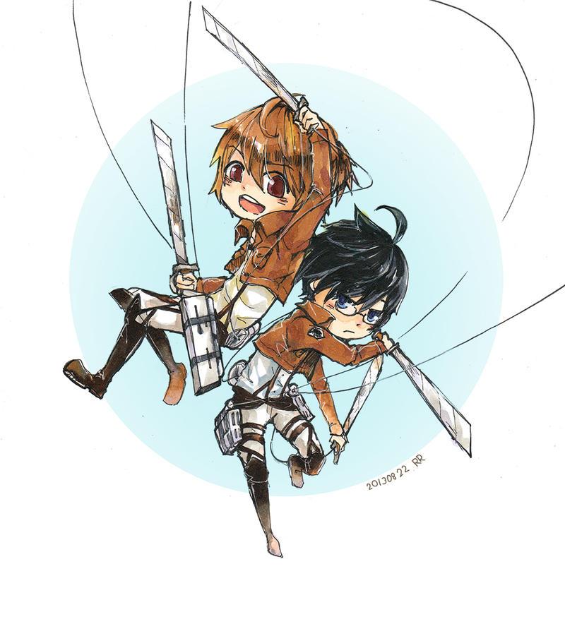 PitchxNapan Attack on Titan by sawa-rint