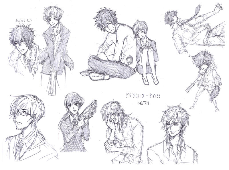 Psycho-Pass sketch by sawa-rint