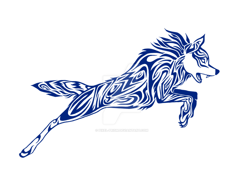 308dbbed Tribal Wolf Design by Pixel-Prism on DeviantArt