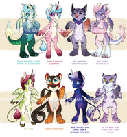[CLOSED] Mythological Creatures - ADOPT AUCTION by Pixel-Prism