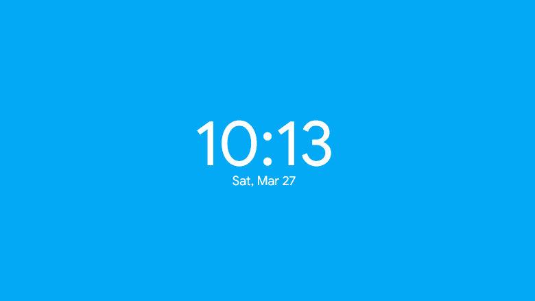 Simple Clock Rainmeter Digital Clock and Date Skin
