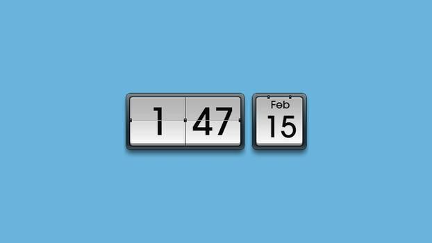 MIUI Flip Clock Rainmeter Digital Clock Skin