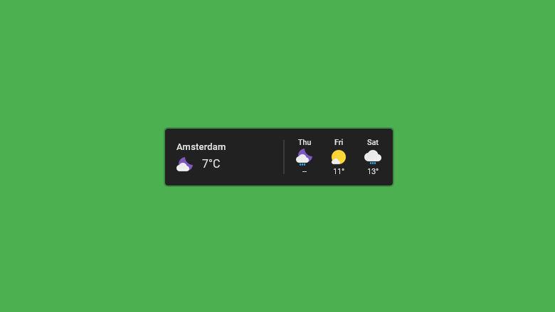 Google Weather Rainmeter Weather Skin