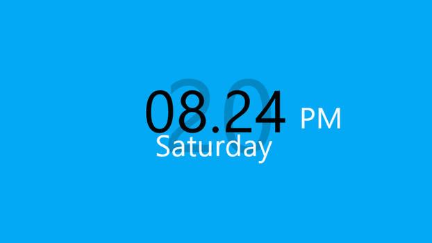 Big Digital Clock Rainmeter Clock and Date Skin