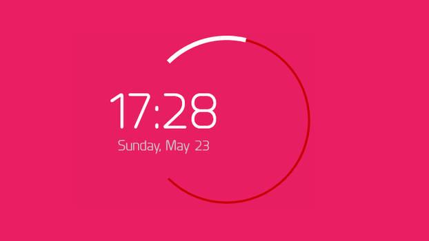 PowerClock Rainmeter Clock and Date Skin