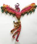 Phoenix wall hanging, commission