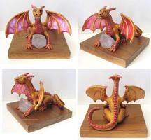 Dragon Guarding a Crystal by GabriellesBabrielles