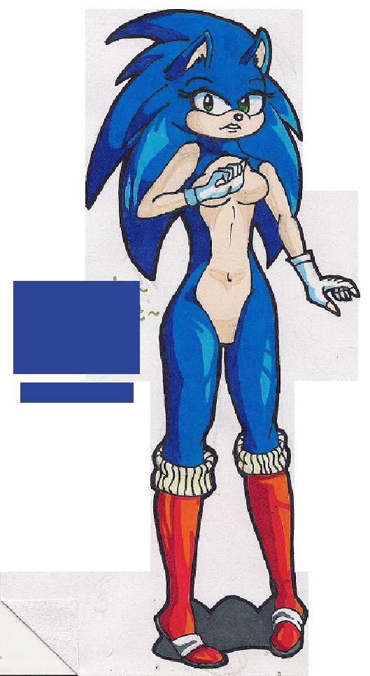 Female sonic by artisdeviantun