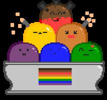 LGBT sundae