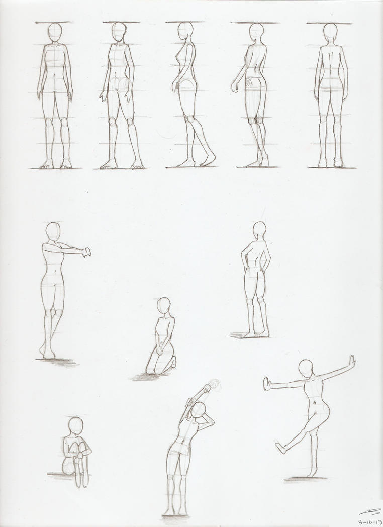 The Gallery For --u0026gt; Female Figure Drawing