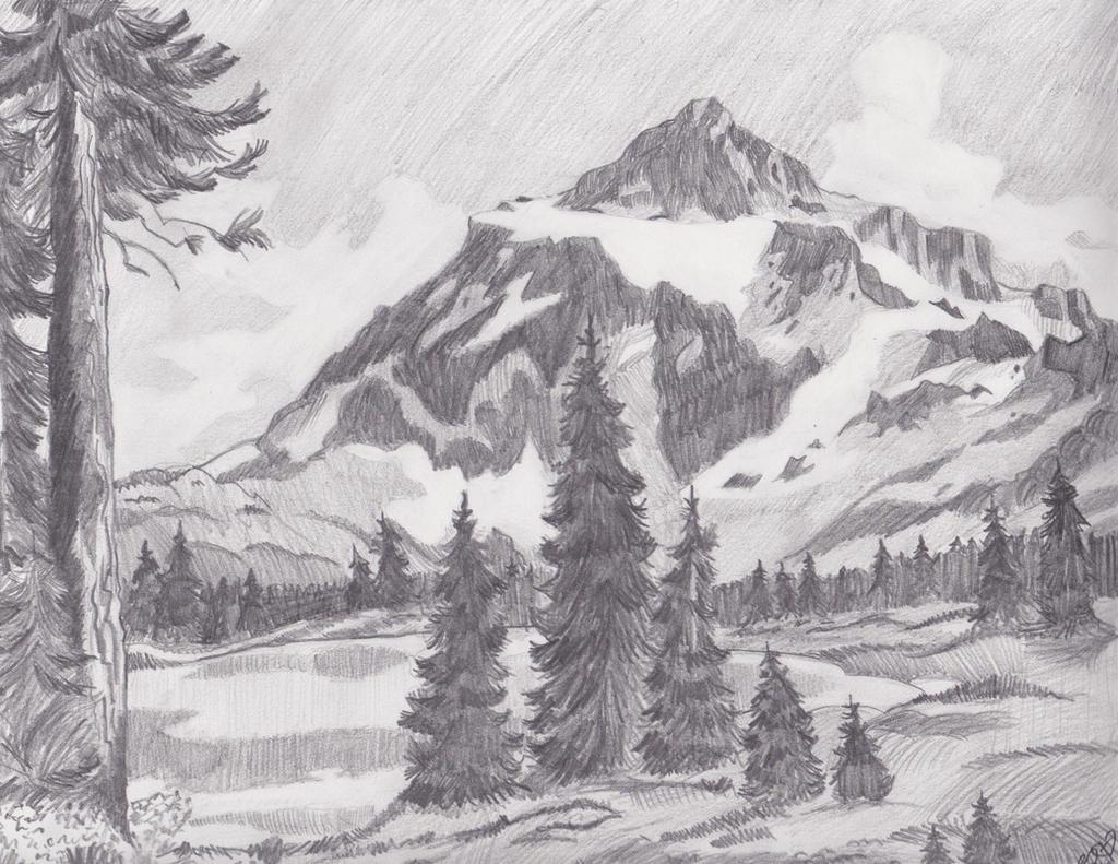 Mountain Landscape by Melmo1123 on DeviantArt