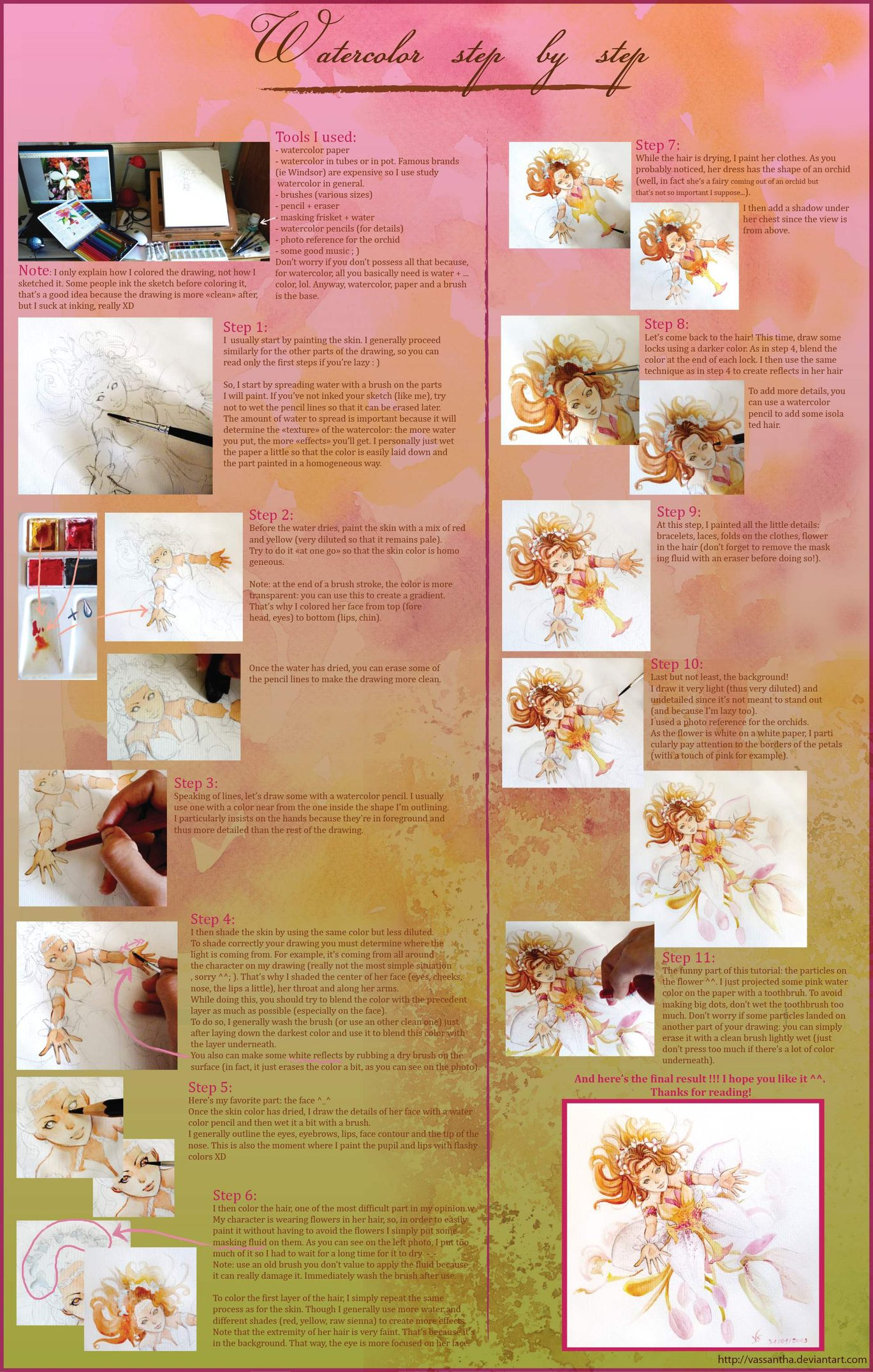 watercolor tutorial by vassantha on deviantart