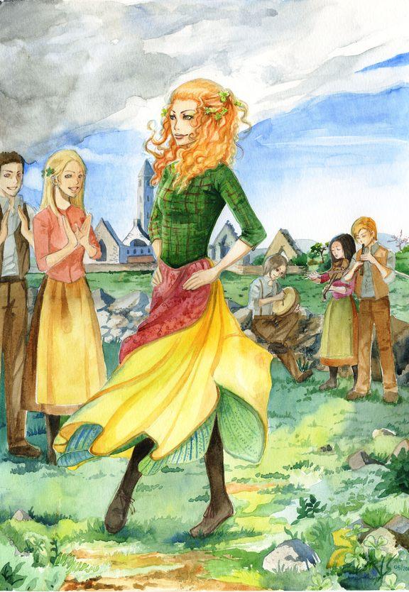 Dancing the Irish jig. by Vassantha