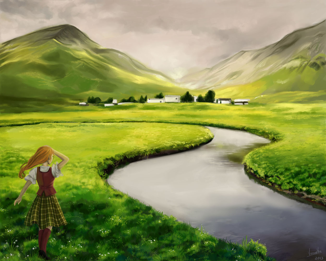 Green Valley by Vassantha