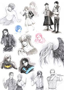 Fanarts sketches 1