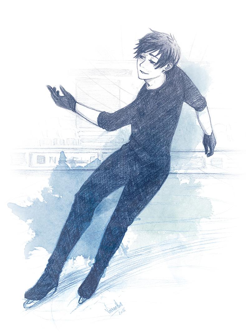 Yuri on Ice sketch by Vassantha