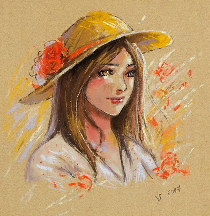 Pastel sketch by Vassantha