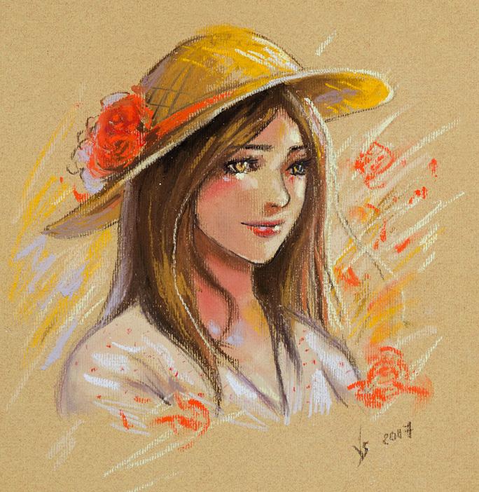 Pastel sketch by Vassantha